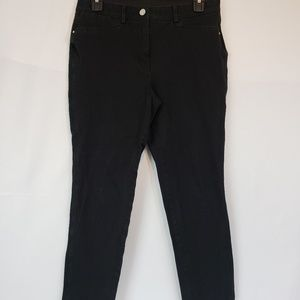 So Slimming Chico's black cropped Jeggings size .5